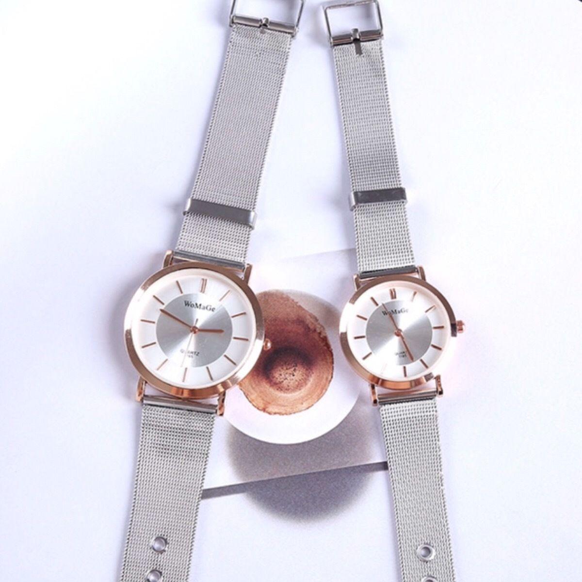 クリアウォッチ シルバー メンズ レディース  ペア シンプル ギフト 人気 プレゼント 時計 おしゃれ 安い かわいい スケルトン ブレスレット 腕時計
