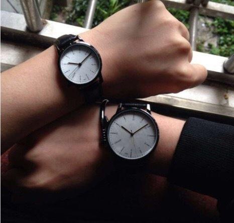 【ペア価格】シンプルペアウォッチ シルバー ブラック メンズ×レディース  腕時計 シンプル ギフト 人気 プレゼント 時計 おしゃれ 安い かわいい プチプラ ブレスレット