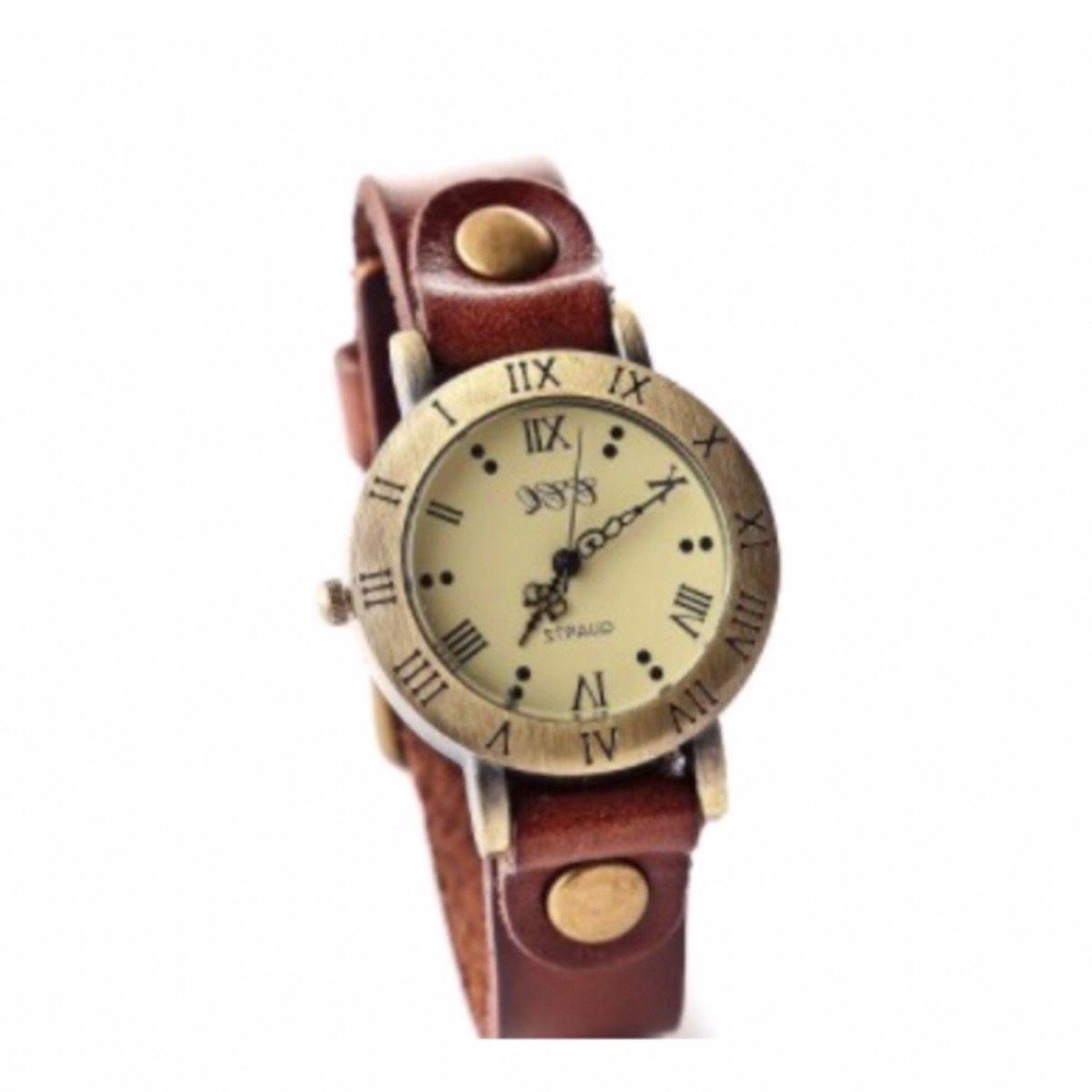 レザーウォッチ 腕時計 メンズ レディース シンプル ギフト 人気 プレゼント 時計 おしゃれ 安い かわいい プチプラ ブレスレット 薄茶 ライトブラウン アンティーク