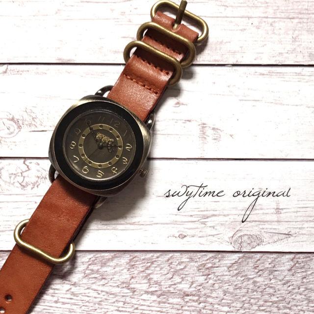 レザーウォッチ ライトブラウン 腕時計 メンズ レディース シンプル ギフト 人気 プレゼント 時計 おしゃれ 安い かわいい プチプラ ブレスレット 茶色 アンティーク
