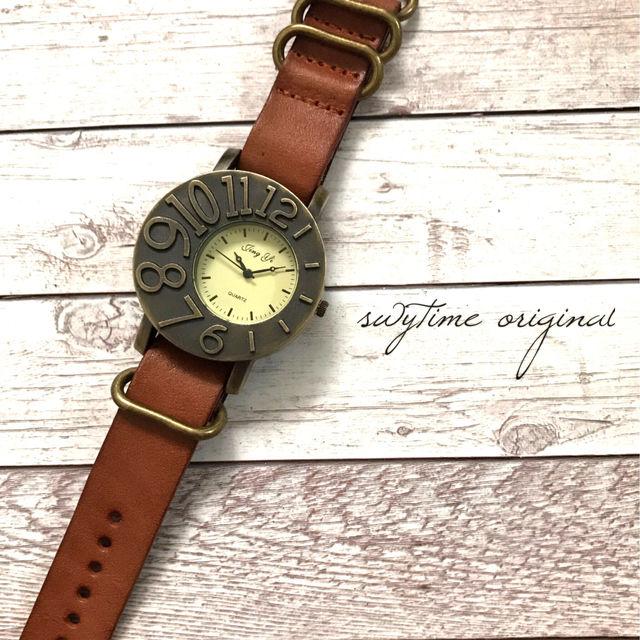 レザーウォッチ ライトブラウン 腕時計 メンズ レディース シンプル ギフト 人気 プレゼント 時計 おしゃれ 安い かわいい プチプラ ブレスレット 敬老の日  茶色 アンティーク