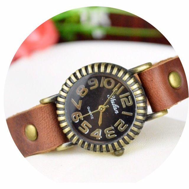 レザーが可愛い腕時計 ペアウォッチ メンズ レディース シンプル ギフト 人気 プレゼント 時計 おしゃれ 安い かわいい プチプラ ブレスレット 敬老の日 ブラウン レザー