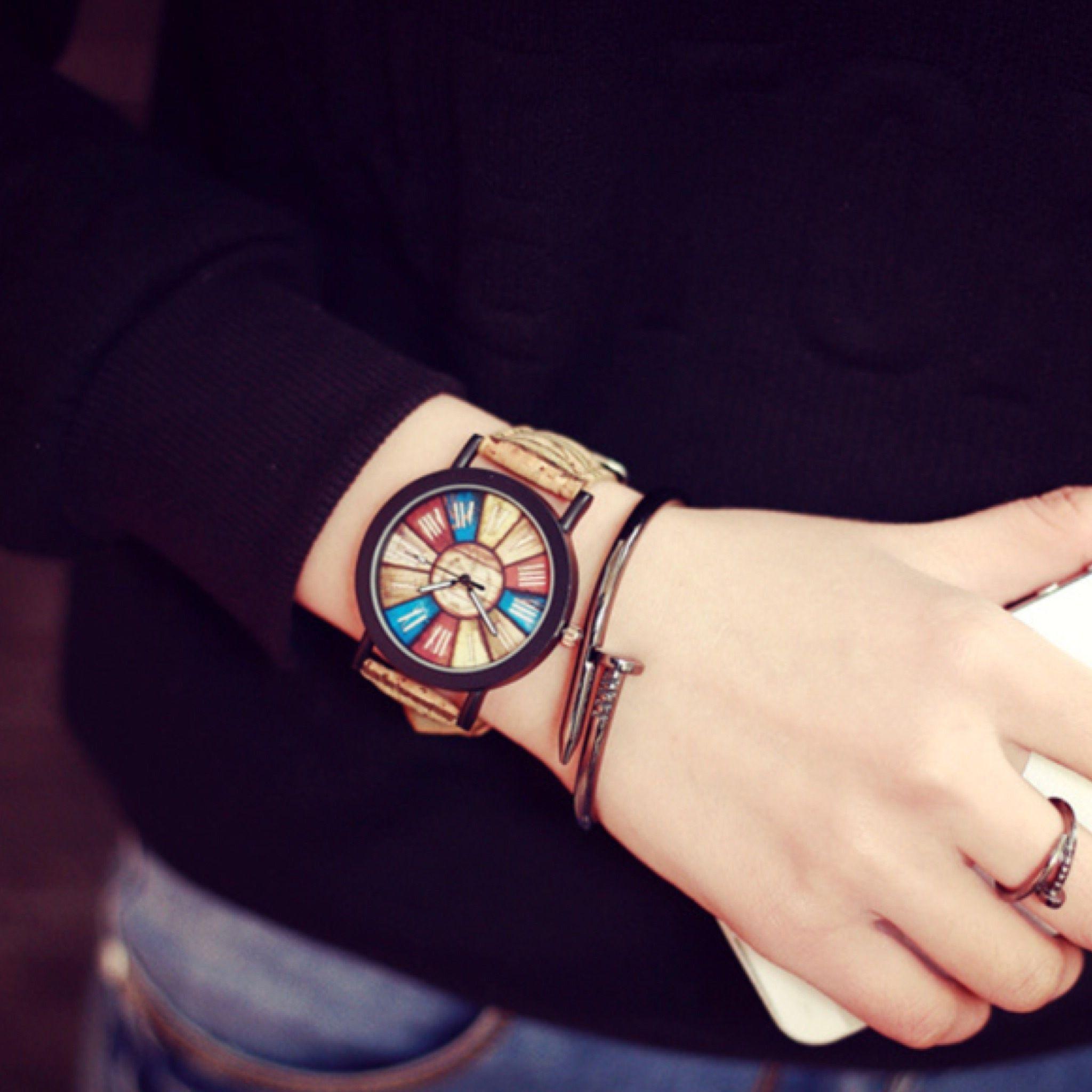 ウッドテイストウォッチ レディースサイズ 腕時計 シンプル ギフト 人気 プレゼント 時計 おしゃれ 安い かわいい プチプラ ブレスレット コルク
