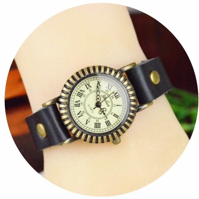 レザーが可愛い腕時計 ペアウォッチ メンズ レディース シンプル ギフト 人気 プレゼント 時計 おしゃれ 安い かわいい プチプラ ブレスレット 敬老の日 ブラック レザー