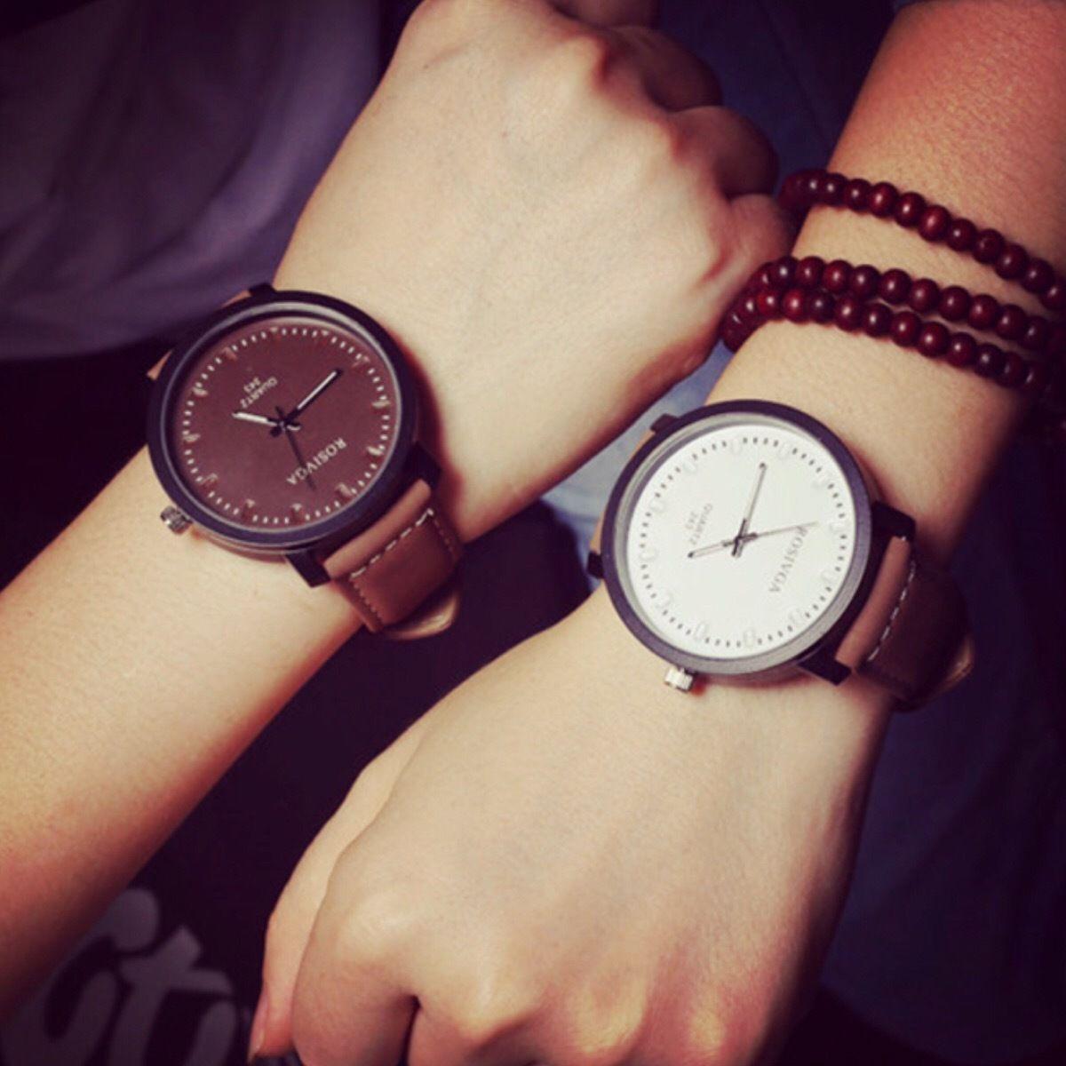 【ペア価格】シンプルペアウォッチ ブラウン×ホワイト  腕時計 メンズ レディース シンプル ギフト 人気 プレゼント 時計 おしゃれ 安い  ブレスレット カジュアル レザー
