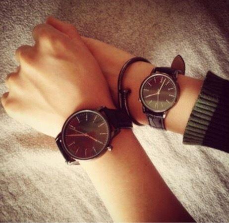 【ペア価格】シンプルペアウォッチ ブラック メンズ×レディース  腕時計 シンプル ギフト 人気 プレゼント 時計 おしゃれ 安い かわいい プチプラ ブレスレット