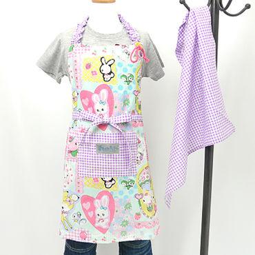 Honey Tune D エプロン 120cm(三角巾付き)ハンドメイド!