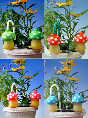植木鉢自動給水4色8個セット給水きのこちゃん