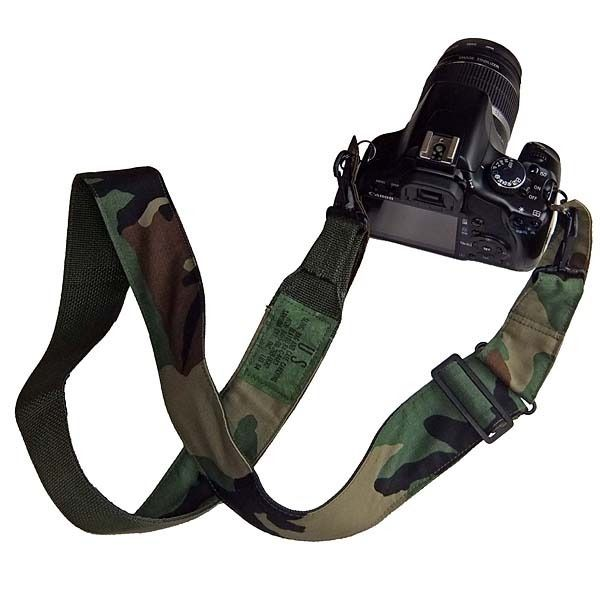アメリカ軍迷彩カモフラージュ柄 ミリタリーカメラストラップ R/S