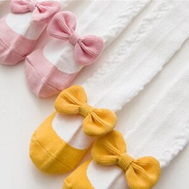 選べる3色 大きめリボンつき バレエシューズを履いているようなキュートデザイン! ベビー キッズ タイツ ガールズ 女の子 赤ちゃん