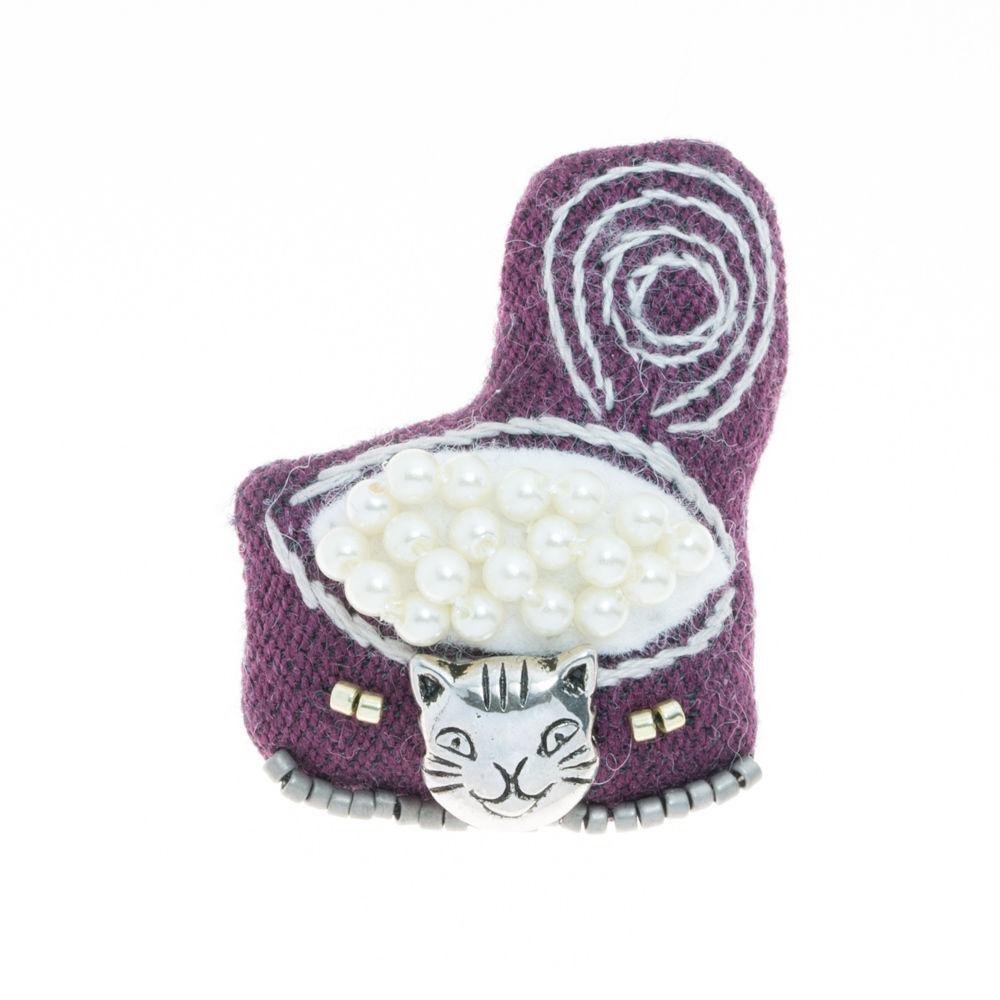 Cat Food Brooch