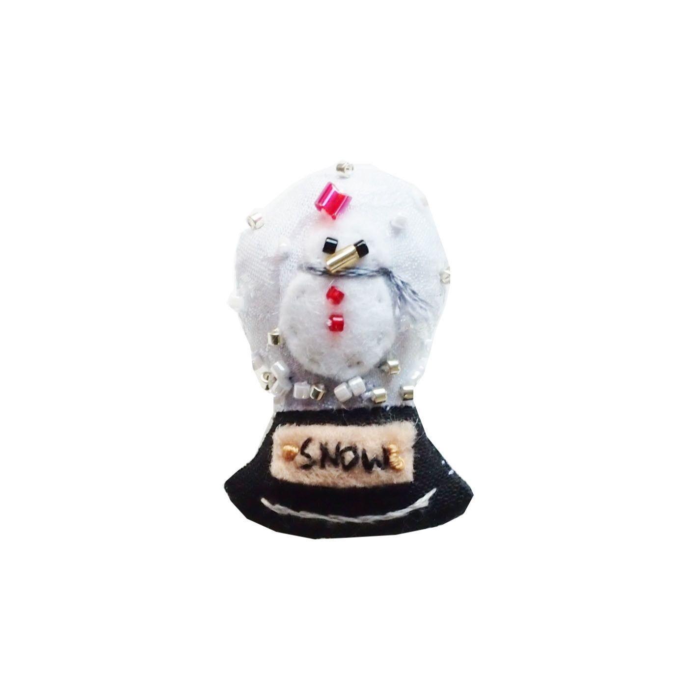 Miniature Snow Globe Brooch