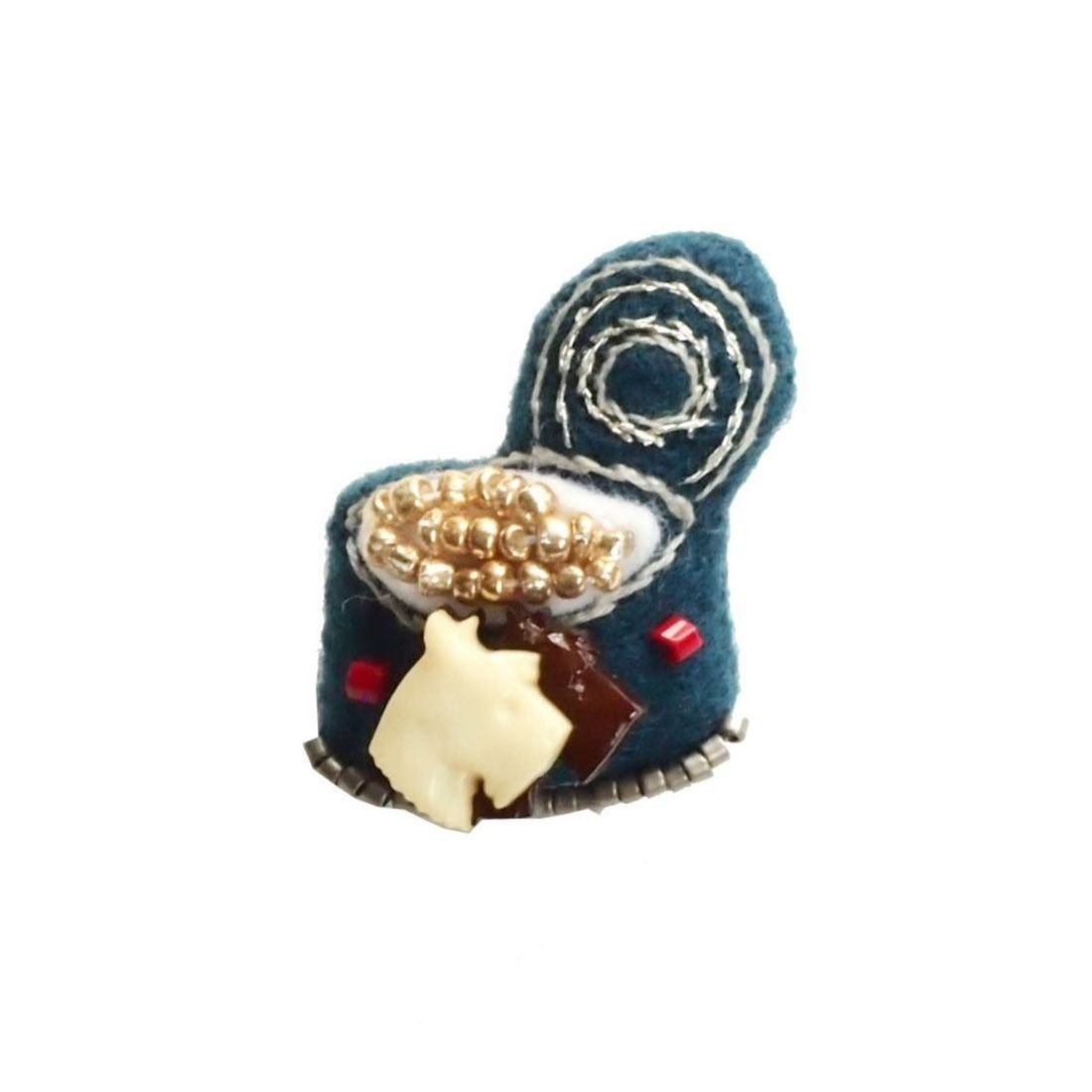 Miniature Dog Food Brooch