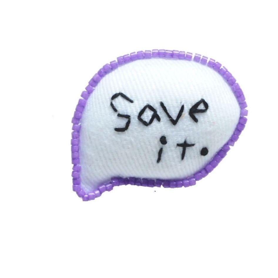 Balloon Brooch (Save it.)