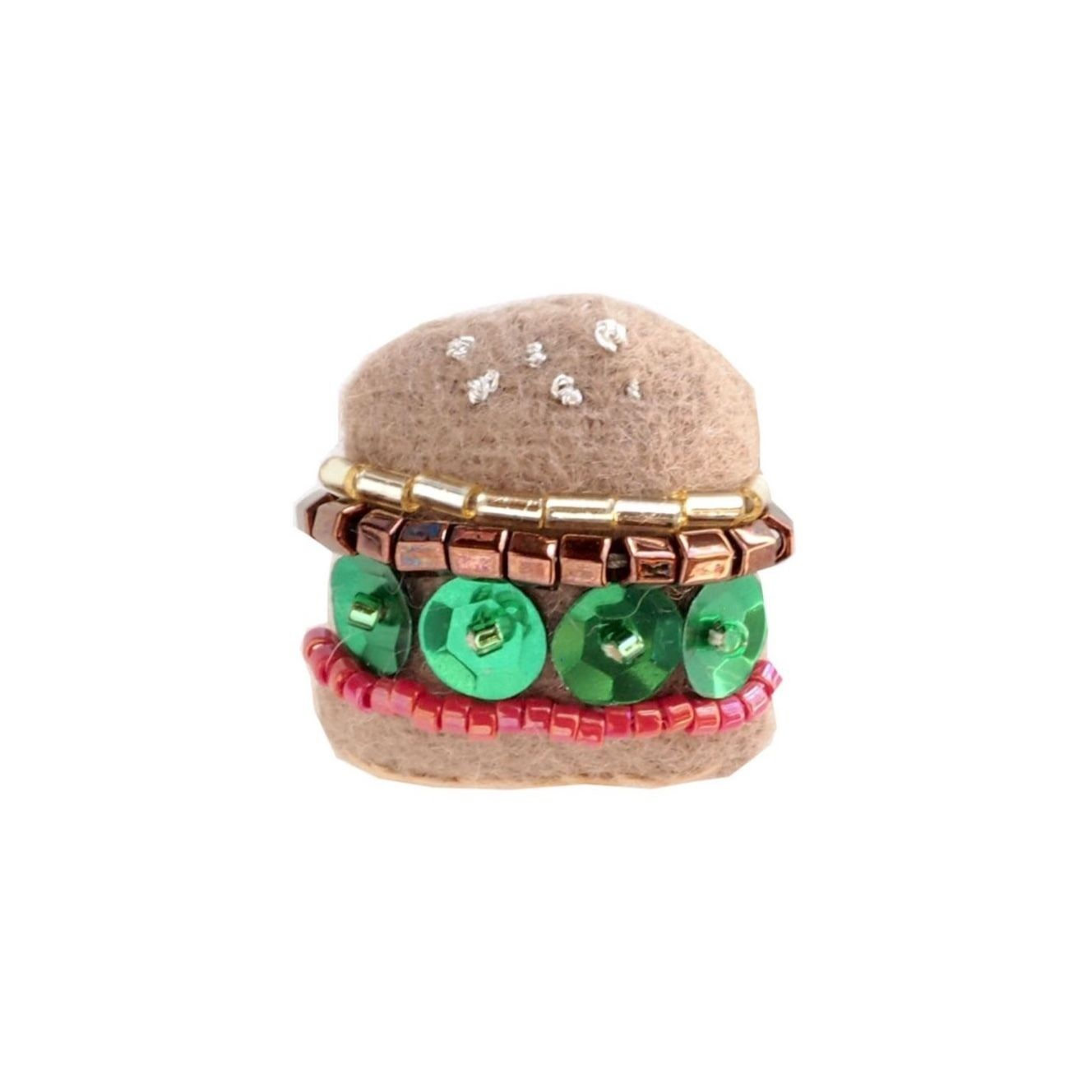 Miniature Hamburger Brooch