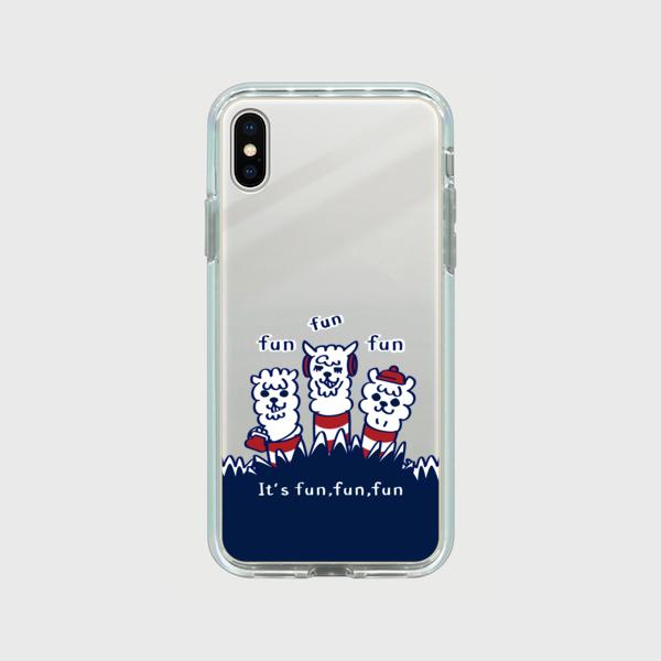 シルバー【スマホケース】あるぱかイズムC_iPhoneミラーケース