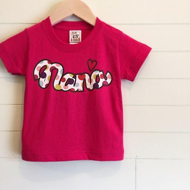 Multi Dot/ショッキングピンク - ネームオーダーTシャツ