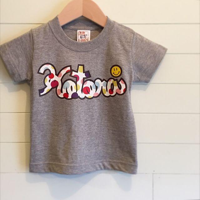 Multi Dot/グレー - ネームオーダーTシャツ