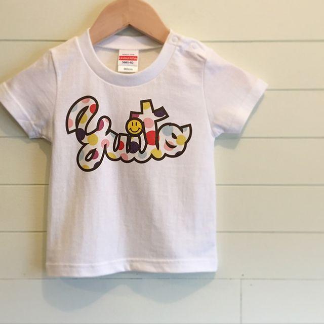 Multi Dot/ホワイト - ネームオーダーTシャツ
