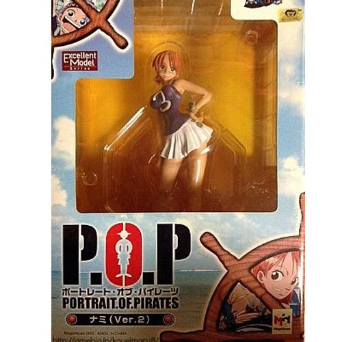 【未開封】ワンピース Portrait.Of.Pirates ナミ ver.2 POP フィギュア 初期版 ワンピースシリーズ4<br>ONE PIECE ワンピース フィギュア  メガハウス 国内正規品【代引き不可】  h-o-mh-13