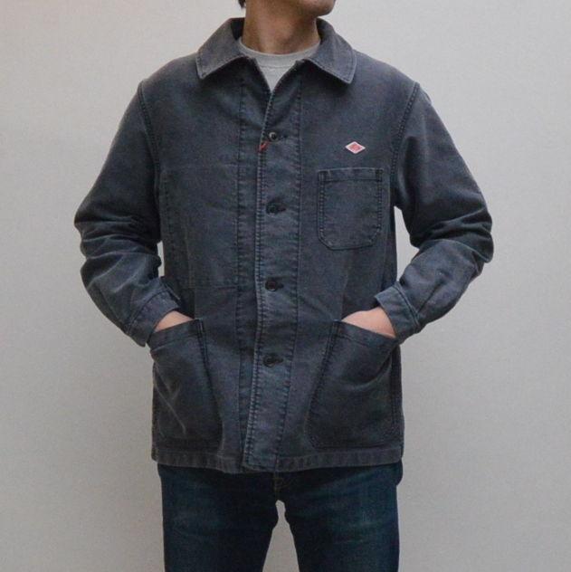 【メンズ】DANTON(ダントン)モールスキン カバーオールジャケット   JD-8884HMS