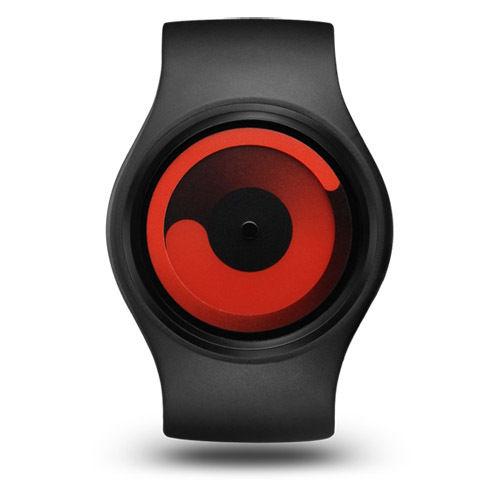 Ziiiro (ジーロ) Watch - Gravity - Black Red