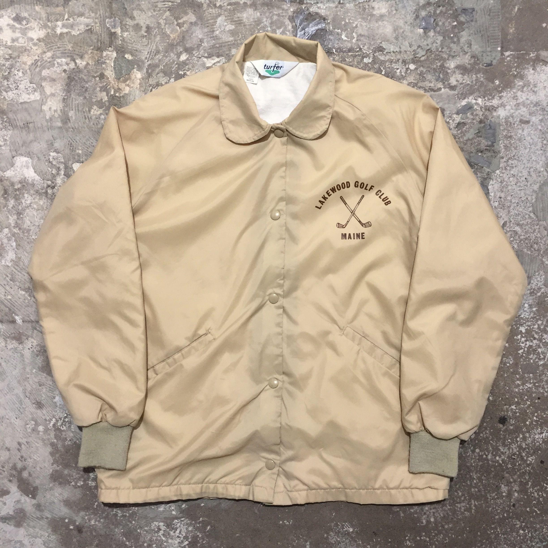 80's turfer Round Collar Nylon Coach Jacket