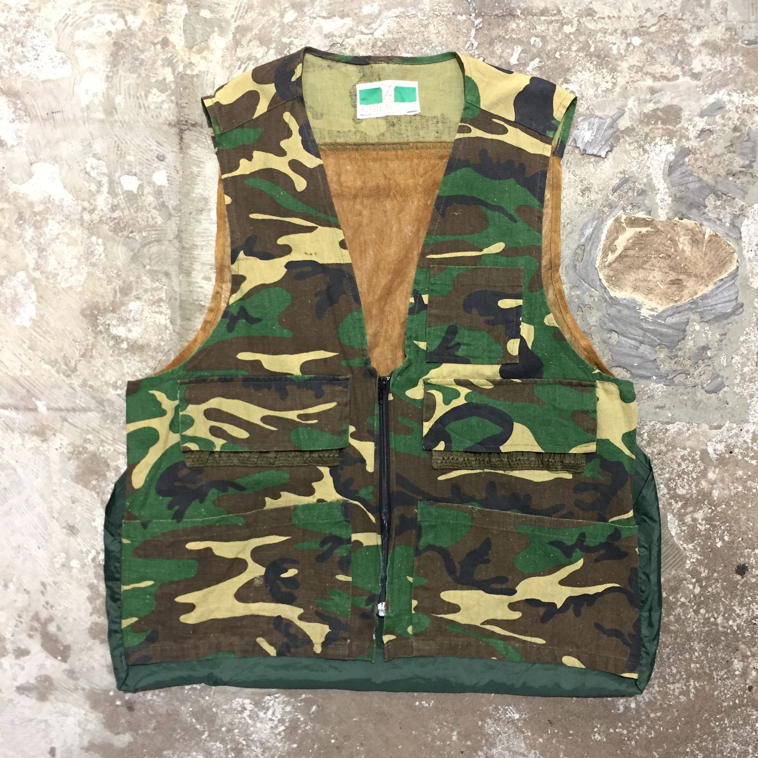 80's~ GAME WINER Hunting Camo Vest