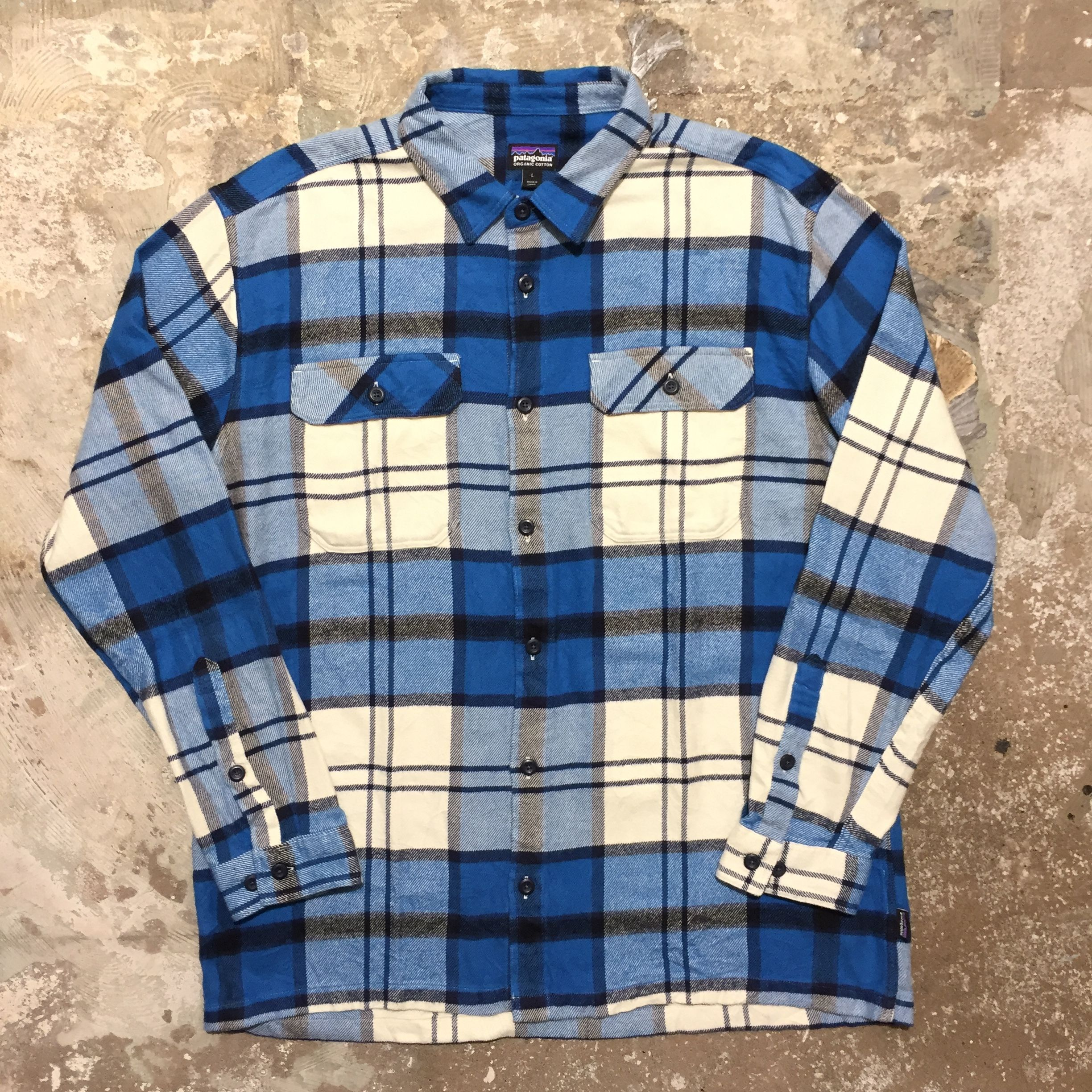 Patagonia Heavy Flannel Shirt BLUE×NAVY×WHITE