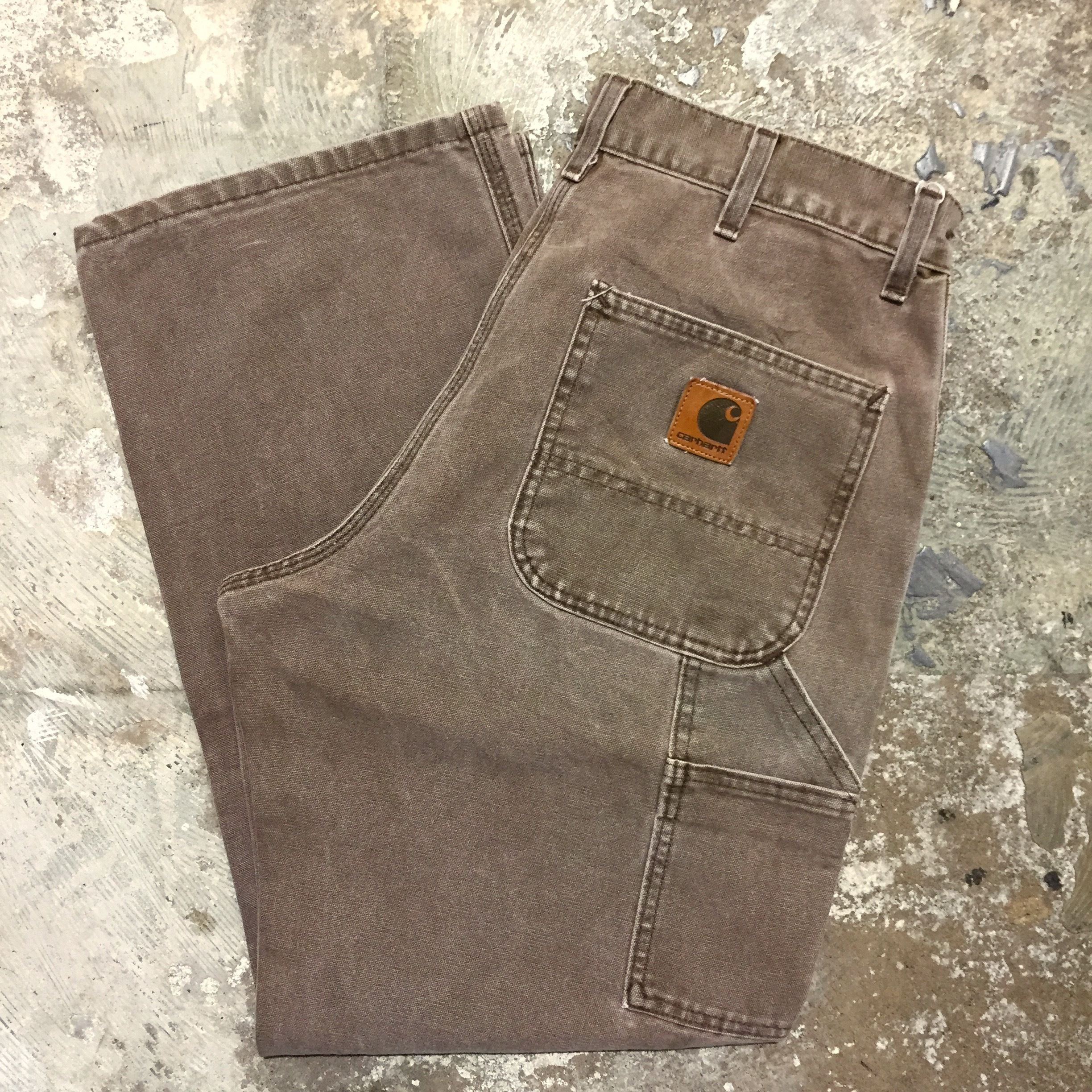 90's Carhartt Painter Pants DARK BROWN  W : 34