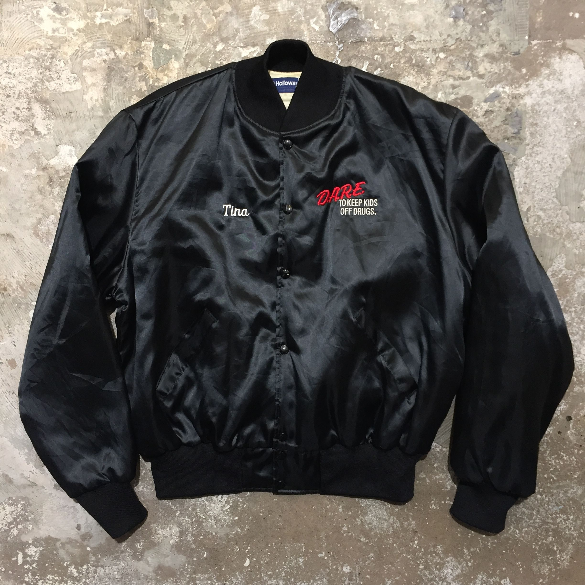 80's Holloway D.A.R.E. Nylon Varsity Jacket