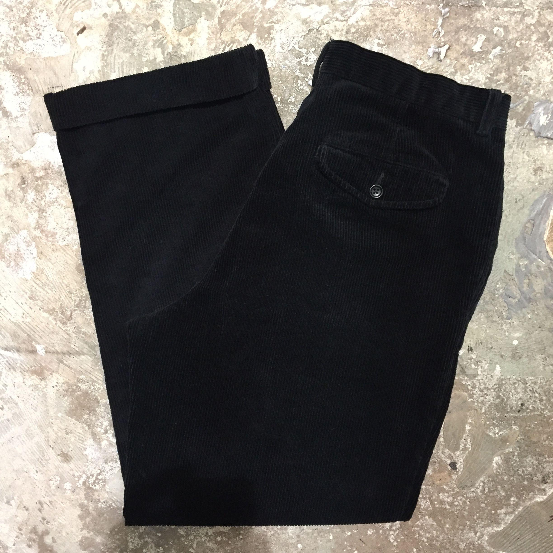 BANANA REPUBLIC Corduroy Two Tuck Pants BLACK