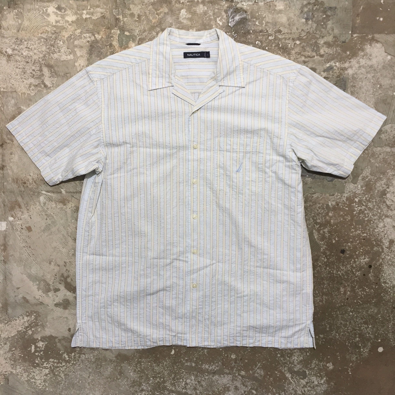 NAUTICA Seersucker Open Collar Shirt