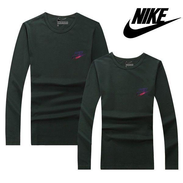 グリーン 濃い緑 メンズ愛用 ナイキトレーナー Nikeスウェット Nikeシャツ 長袖 カップル ペアルック 可愛い トレーナー