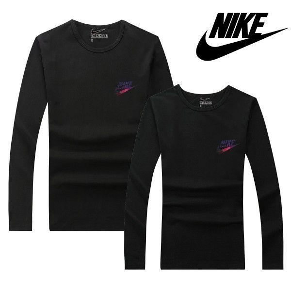 ブラック 黒 可愛いナイキトレーナー Nikeスウェット Nikeシャツ 長袖 カップル ペアルック