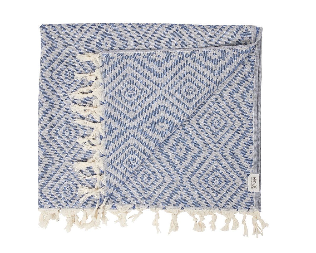 MAYDE - CLOVELLY TOWEL - BLUE