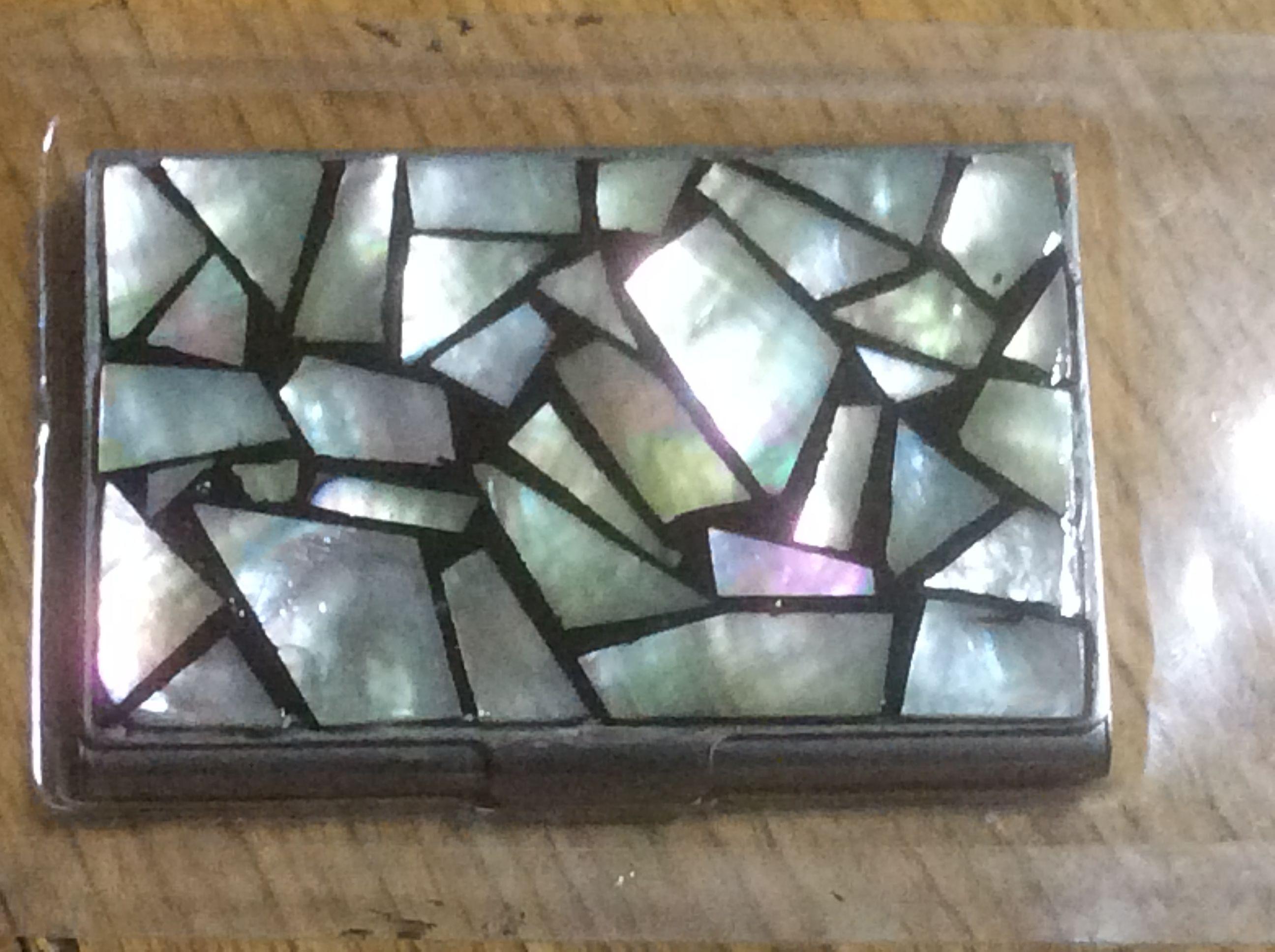 わけ(傷)有り 貝細工 カードケース1