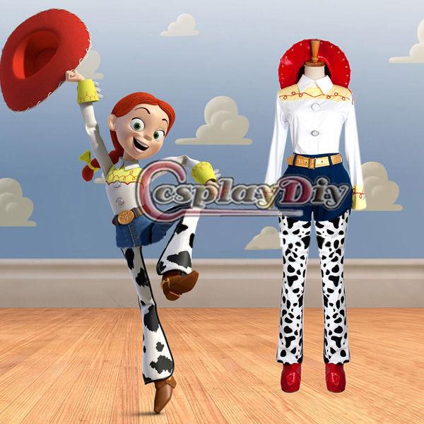 高品質 高級コスプレ衣装 ディズニーランド ハロウィン ディズニー風 トイ・ストーリー 風 ジェシー タイプ