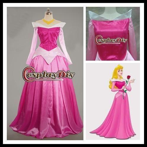 高品質 高級コスプレ衣装 ディズニーランド ハロウィン ディズニー オーロラ姫 風 ドレス