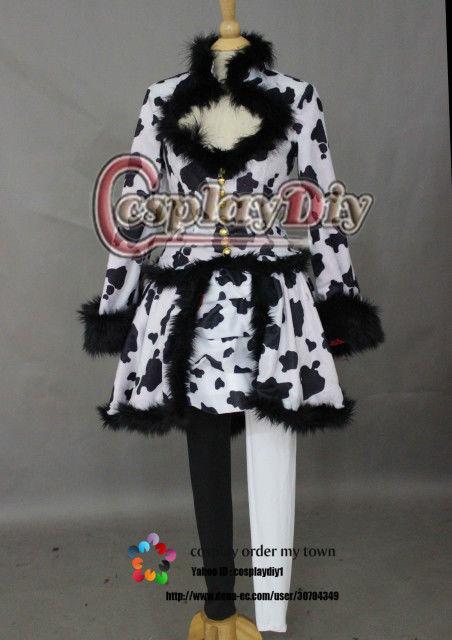 高品質 高級コスプレ衣装 ディズニーランド風 ハロウィン イースターワンダーランド クルエラ ダルメシアンダンサー風 衣装