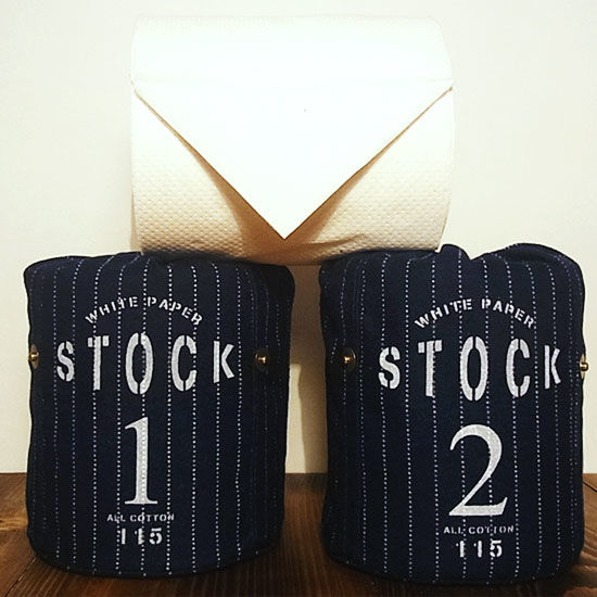 White paper stock / トイレットペーパーホルダー Made in JAPAN 送料無料