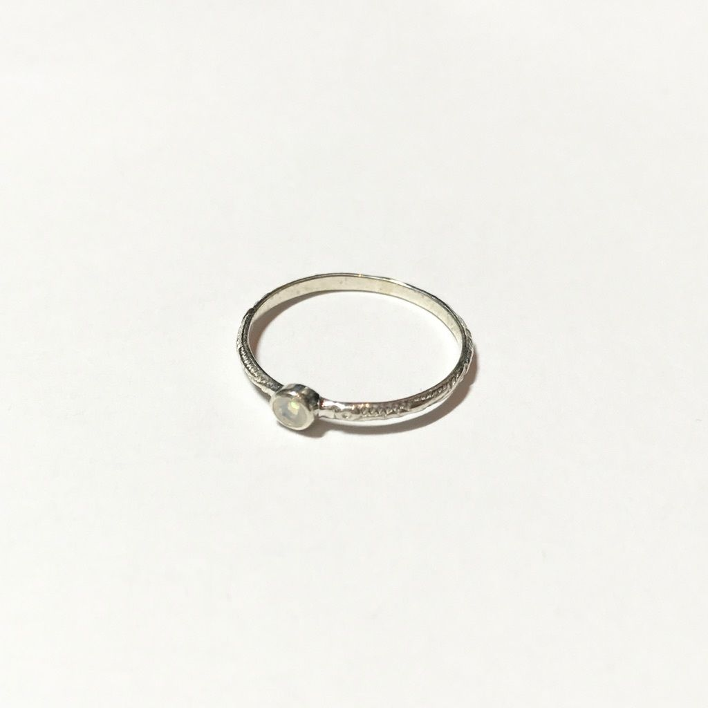 【受注商品】Birthday stone pattern ring (10月/オパール)