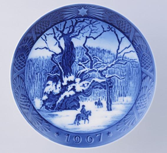 ロイヤルコペンハーゲン イヤープレート 1967年/昭和42年 「ロイヤルオーク」