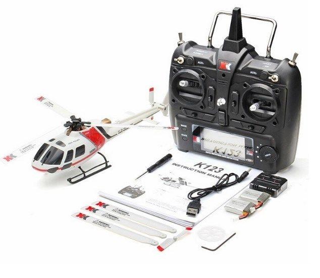 XK AS350 K123 6CH 3D 6G システムブラシレスモータBNF RCヘリコプター トランスミッター 送信機