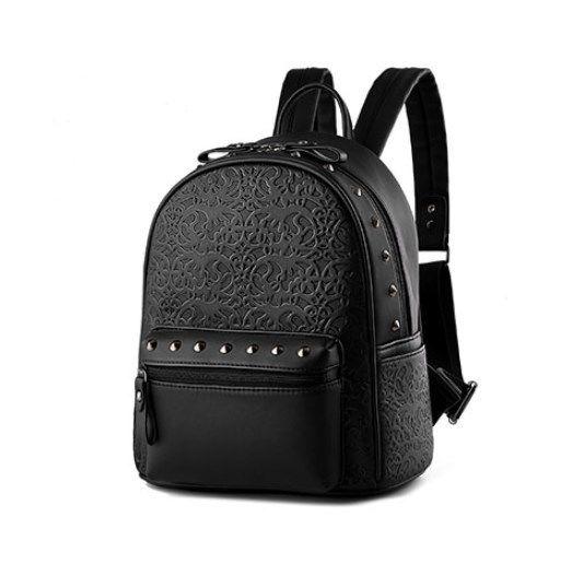 レディースバックパック スタッズ 海外ブランド YOUNNE ソリッドカラー ショルダーバッグ リベットバッグ