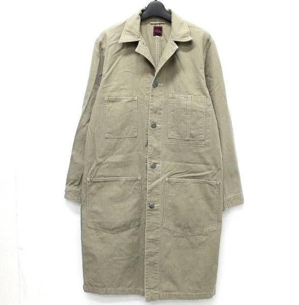 FULL COUNT フルカウント デニム ショップ コート エンジニア グレー 灰色 コットン 綿 40 ツールポケット オリジナル ボタン ワーク