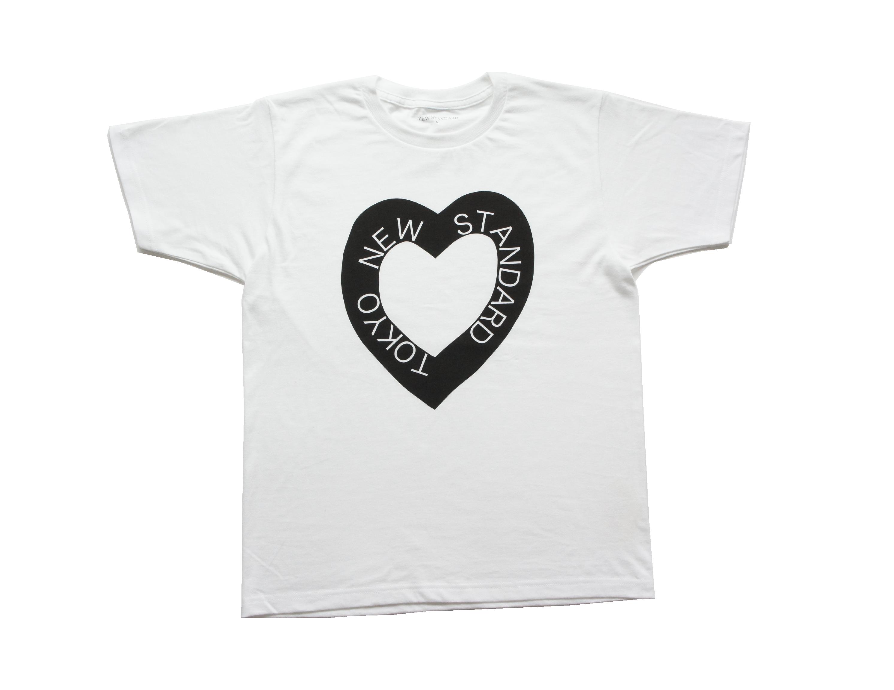 S/S ハートロゴTシャツ(ブラック)