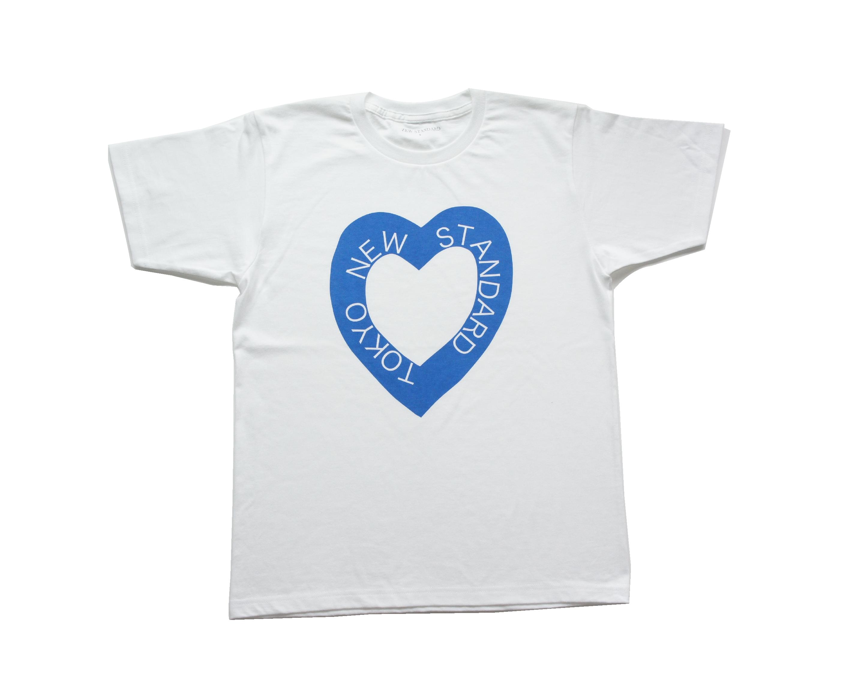 S/S ハートロゴTシャツ(ブルー)
