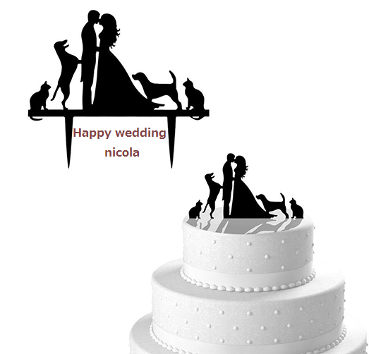 wedding cake Topper Type3