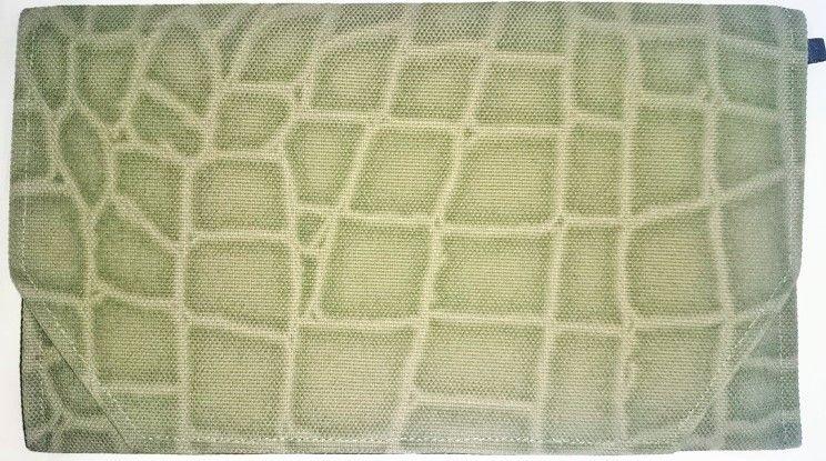 018GR-LWM-A御朱印帳袋(御朱印帳約18.5cmx12.5cm) 帆布生地 クロコダイル カーキー